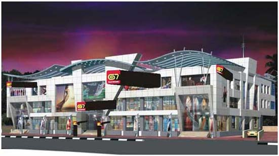 Mall facade design