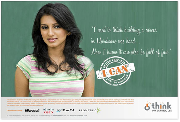Press campaign for 'I CAN'