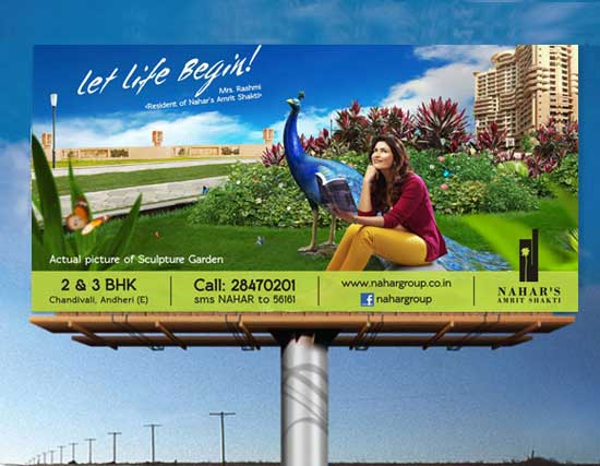 Nahar Group Sculpture Hoarding