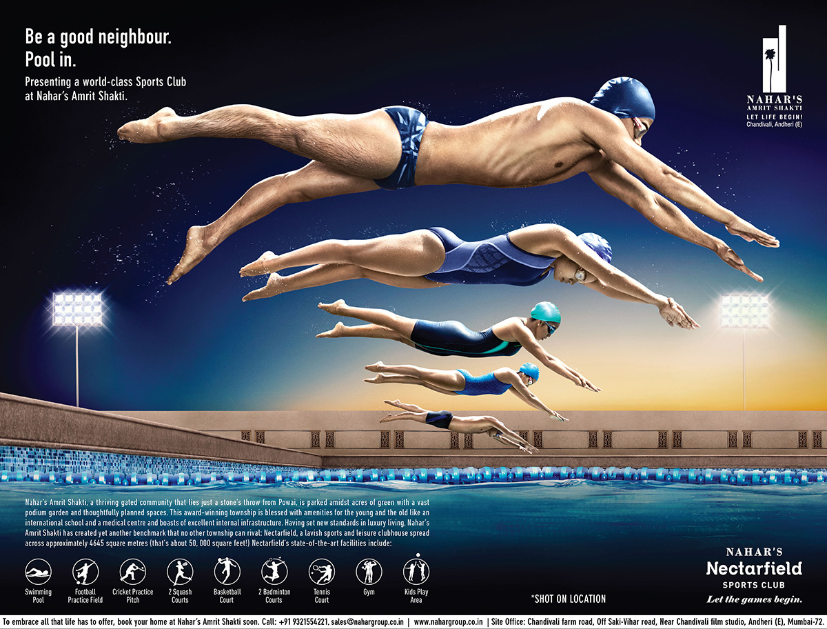 Nahar Group Swimming Ad