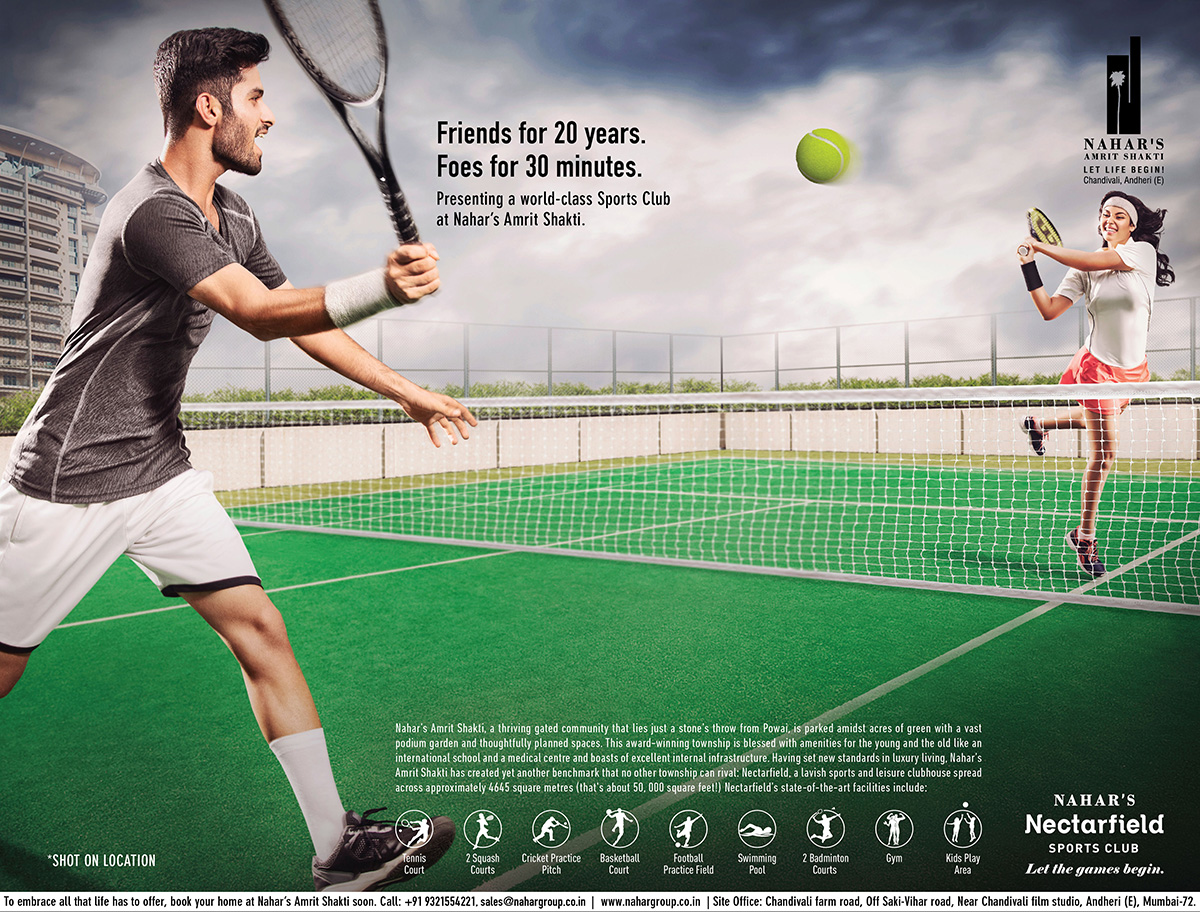 Nahar Group Tennis Ad