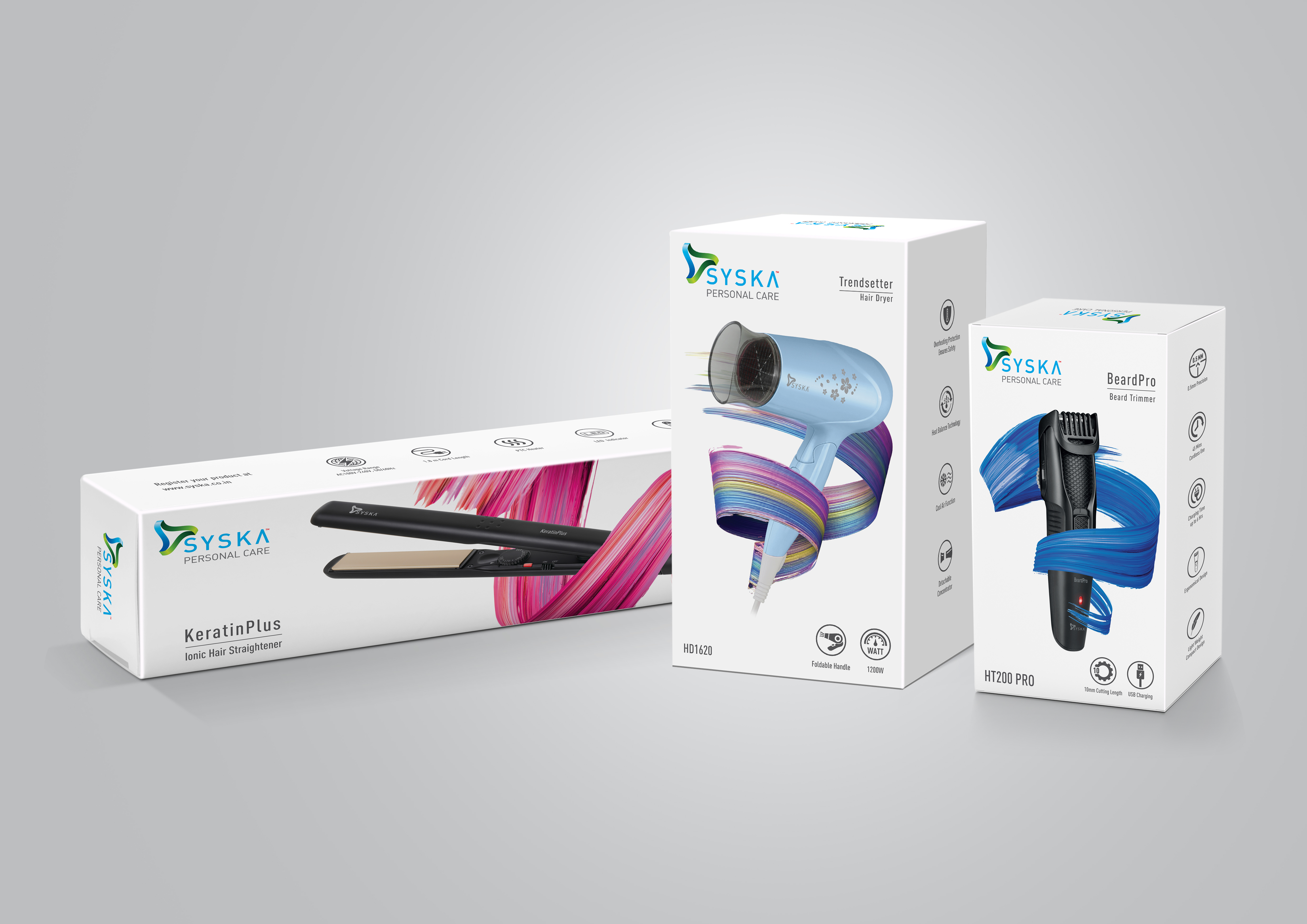 Syska Personal Care Packaging